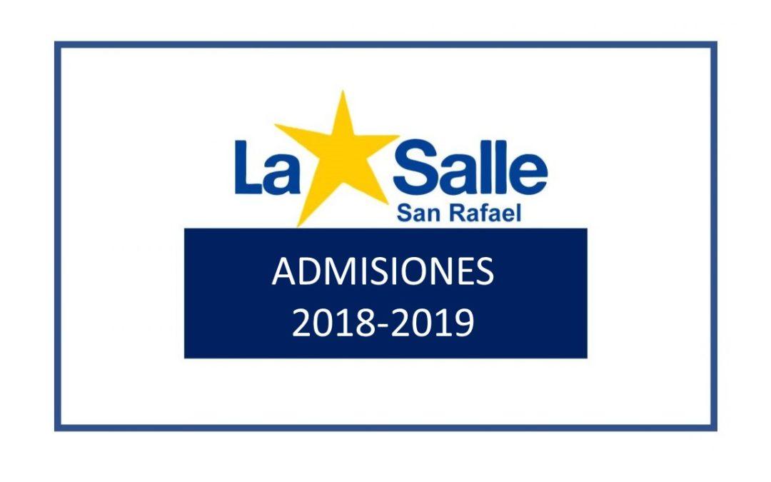 Admisiones 2018-2019