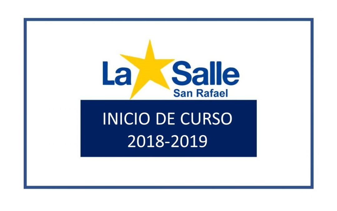 Informaciones inicio 2018-2019