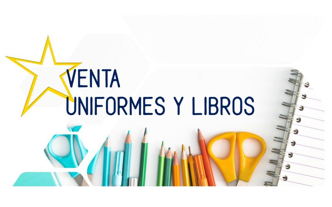 Venta de uniformes y libros de texto