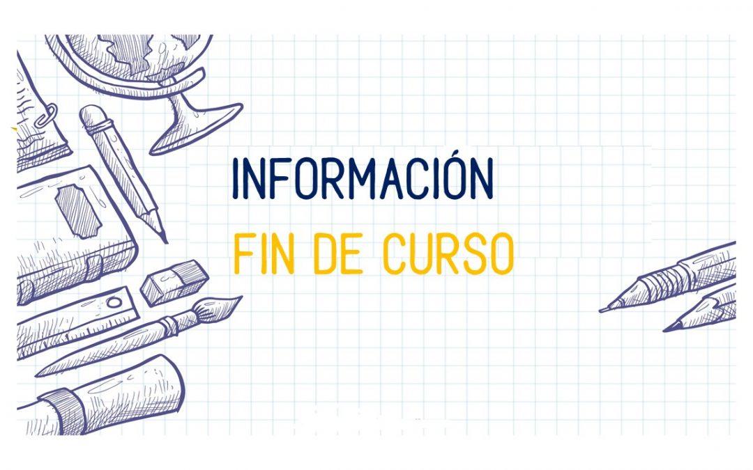 Información fin de curso