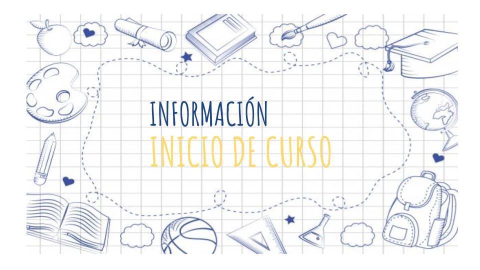 Información comienzo de curso