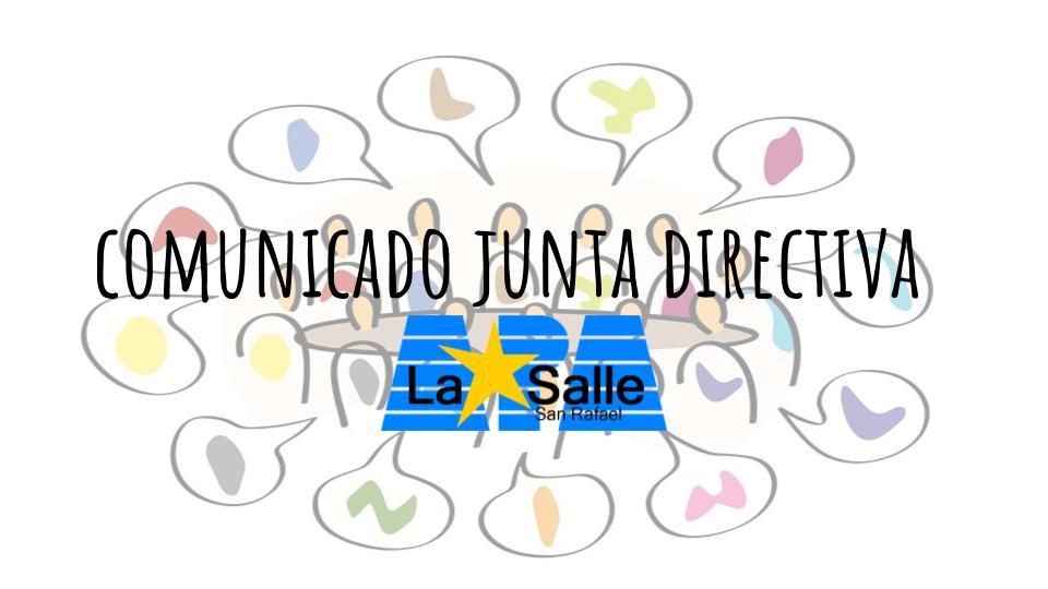 Comunicado de la Junta directiva del APA