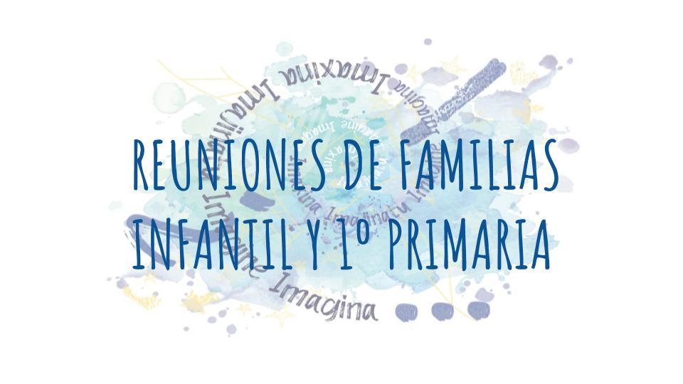 Reuniones de familias de Infantil y 1ºPrimaria