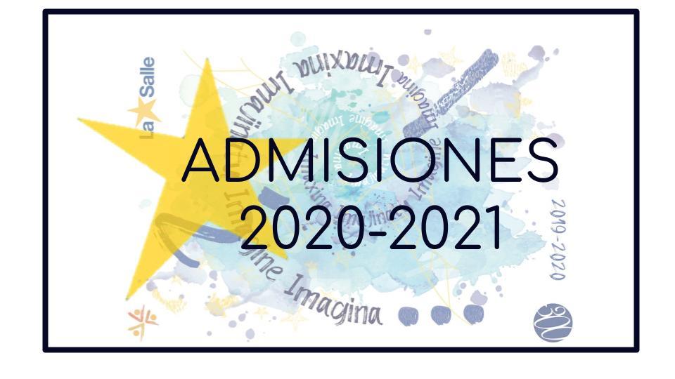 Actualización información admisiones 2020-2021