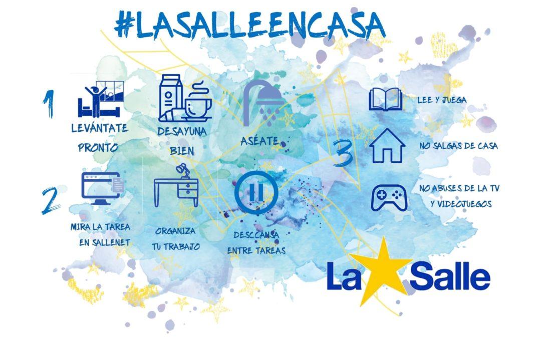 #LaSalleEnCasa: protocolo de actuación de los centros