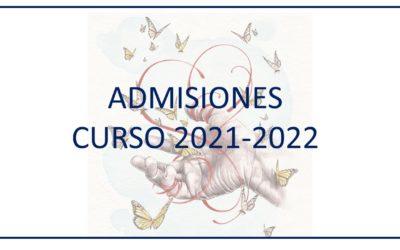 Información admisiones 2021-2022